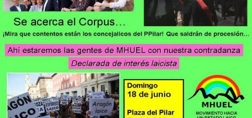 cartel acto corpus MHUEL Zaragoza 2017