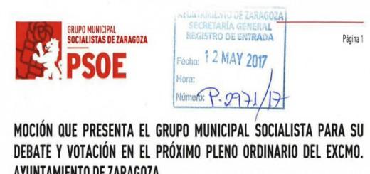 mocion PSOE Zaragoza inmatriculaciones 2017