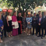 presidenta asamblea Extremadura acto obispo Plasencia 2017