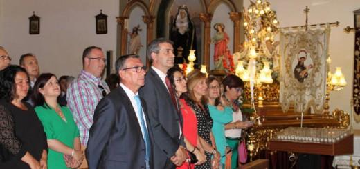 presidente Diputacion Toledo en misa Cabezamesada 2017