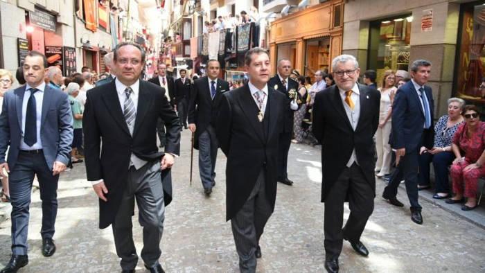 procesion Corpus Toledo 2017 presidente CLM