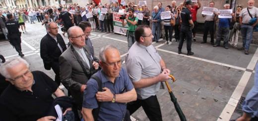 protesta inmatriculaciones Pamplona 2017