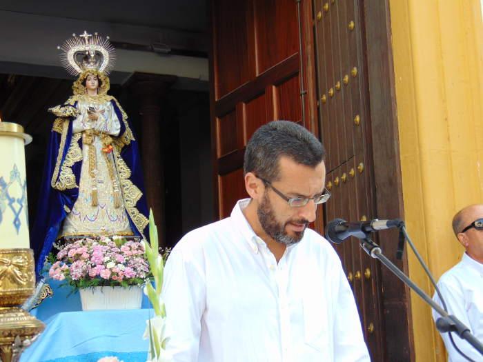 Alcalde La Linea misa rociera 2017 Viren del Carmen