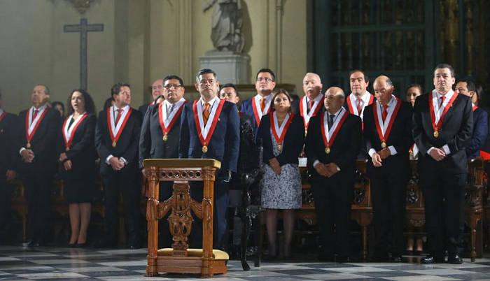 Te Deum Peru 2017 Congresistas