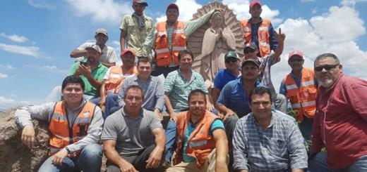 Virgen Guadalupe en un cerro 2017