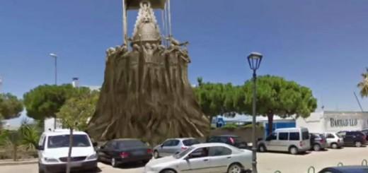 estatua virgen rocio Sanlucar 2017