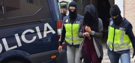 mujer islamista detenida 2017