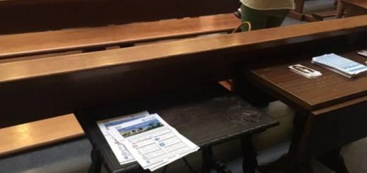 panfletos PP en iglesia Boadilla 2017