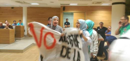 protesta Pleno Getafe cierre mezquita 2017