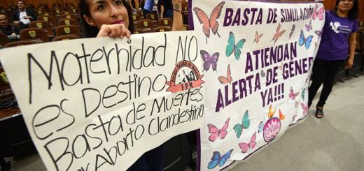 protesta mujeres aborto Veracruz Mexico 2017