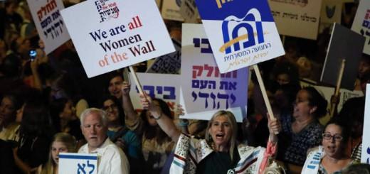 protesta mujeres muro lamentaciones 2017