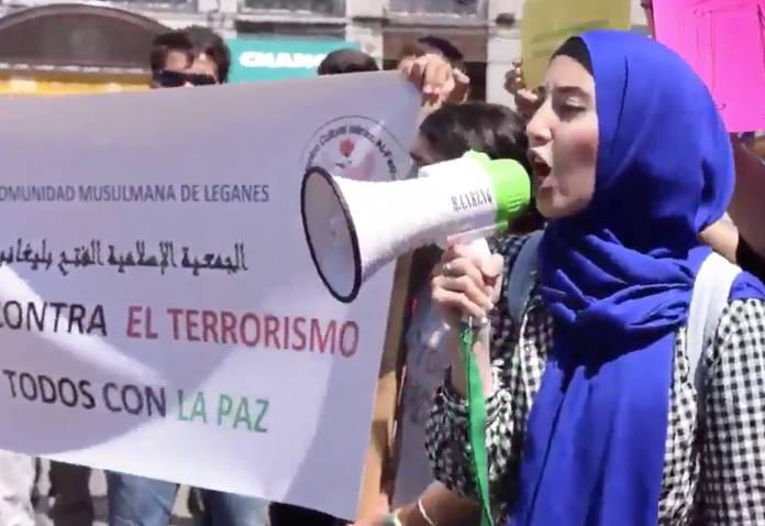 Concentracion-grupo-musulmanes-atentados-Catalunya Madrid 2017