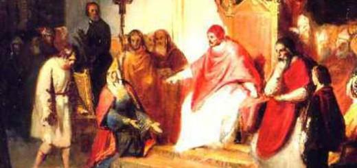 Enrique IV ante el papa Gregorio VII