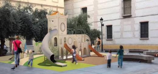 Plaza-cofradias de Malaga parque infantil 2017