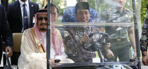 Salman rey Arabia y Widodo presidente Indonesia 2017