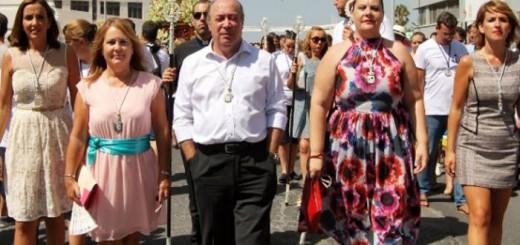 concejales procesion Isla Cristina Huelva 2017