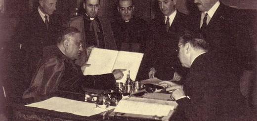 firma Vaticano jurisdiccion castrense 1950