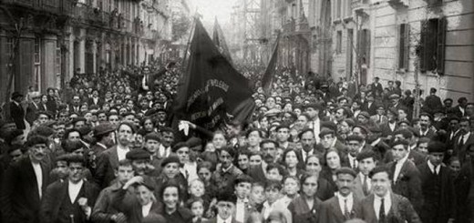 manifestacion sindical 1922