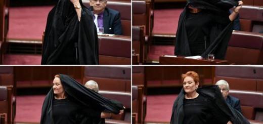 senadora conservadora con Burka Australia 2017