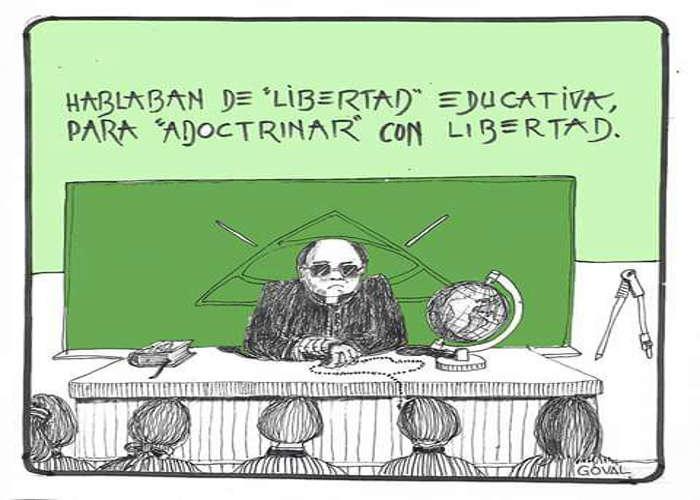 Resultado de imagen de viñeta libertad educacion