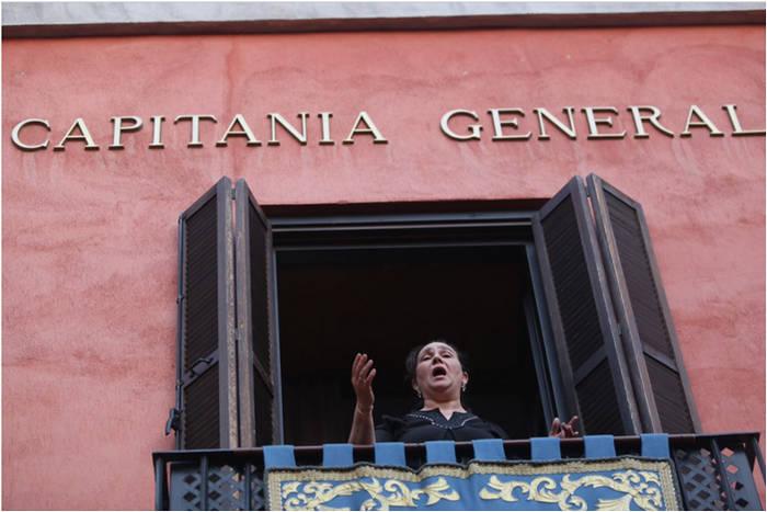Saetas al Nazareno desde la sede del MADOC-Mando de Adiestramiento y Doctrina del Ejército en Granada